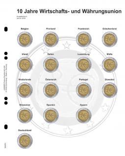 1 x LINDNER MU2E5 Multi Collect Münzhüllen Vordruckblatt 2 Euro Gedenkmünzen 10 Jahre WWU 2009