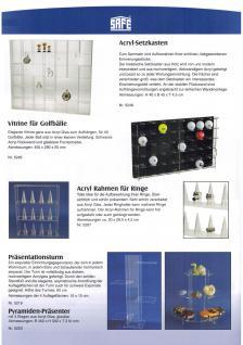 SAFE 5223 ACRYLGLAS Präsentationspyramide Präsenter Universal Glasklar Höhe 30 cm mit 3 Ebenen - Vorschau 3