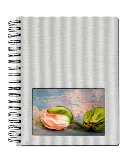 SAFE 5801-1 Design Fotoalbum Classic Silber 19 x 24 cm Hochformat Medium - 40 Seiten + Austauschbares Coverbild