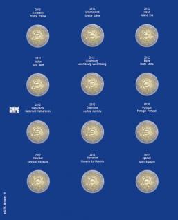 1 x SAFE 7302-10 TOPset Münzblätter Ergänzungsblätter Münzhüllen mit farbigem Vordruckblatt für 2 Euromünzen Gedenkmünzen in Münzkapseln 26 - 2012