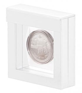 LINDNER 4850 NIMBUS 70 Weiss Objektrahmen Schweberahmen 70 x 70 x 25 mm Münzen & Medaillen