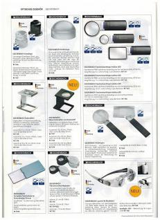 Lindner 7152 Randlose LED Leuchtlupen Stiellupen 2 x fache Vergrößerung Linse 90 mm - Vorschau 4