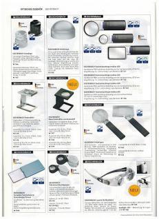 LINDNER 7184 Eschenbach Taschenlupe Leuchtlupe im Sckeckkarten Format easyPocket 4 fach mit LED - Vorschau 4