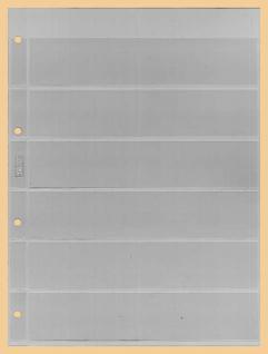 1 x KOBRA E16 Combi Einsteckblätter einseitig glasklar 6 Streifen 40 x 200 mm Ideal für Briefmarken