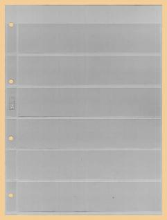 10 x KOBRA E16 Combi Einsteckblätter einseitig glasklar 6 Streifen 40 x 200 mm Ideal für Briefmarken