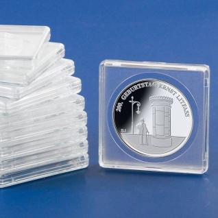 5 x SAFE 3132-5 SAFE Quadratische Münzkapseln Münzdosen Square 50x50 mm glasklar für Münzen bis 32, 5 mm - Ideal für 10 DM & 10 / 20 Euro Deutschland - 200 Goldeuro Deutschland