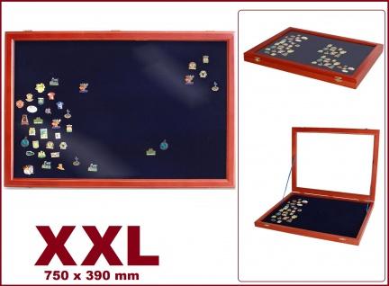 SAFE 5999 Echtholz Holz Sammelvitrinen im Mahagoni Finish Modell XXL - Militaria & Orden & Abzeichen & Spangen