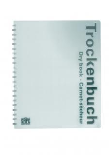 SAFE 1075 Trockenbuch PREMIUM DIN A4 mit 10 Trockenlöscblättern & Zwischenblättern Für Briefmarken