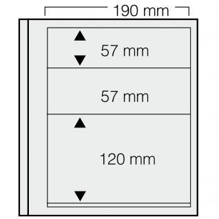 5 x SAFE 621 dual Blankoblätter Einsteckblätter Ergänzungsblätter mit je 2 Taschen 190x57 & 1 Tasche 190x120 mm Für Briefmarken Banknoten Postkarten Briefe
