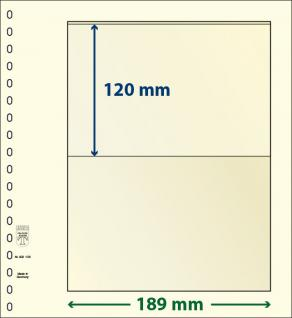 10 x LINDNER 802105P T-Blanko-Blätter Blankoblatt 18-Ring Lochung - 1 Tasche 120 x 189 mm