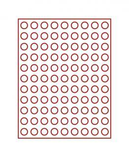 LINDNER 2902E Velourseinlagen Dunkelrote für Münzbox Münzboxen Kassetten Münzkoffer