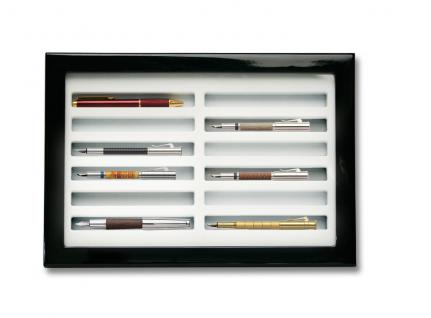 SAFE 5908 Schwarze Sammelvitrine Vitrinen in Klavierlack Optik für 12 Schreibgeräte - Füller - Füllfederhalter - Kulgelschreiber usw. - Vorschau 1