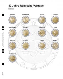 1 LINDNER MU2E3 Multi Collect Münzhüllen Münzblätter Vordruckblatt 2 Euro Gedenkmünzen Römische Verträge 2007
