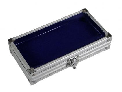"""SAFE 5872 ALU Sammelvitrine Vitrine """" Smart """" ohne Fächer mit blauem Samt Einlage 195 x 110 x 40 mm Ideal für Pins - Buttons Anstecknadeln - Vorschau 2"""