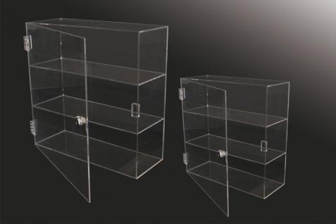 SAFE 5247 Grosse Acrylglas Design Viitrinen Setzkasten Box 320 x 320 x 110 mm 3 Ebenen abschließbar Universal Für Mineralien - Fossilien - Bernstein - Muscheln & Schnecken - Kristallej - Vorschau 4