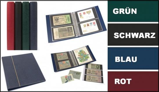 KOBRA G12P Rot Universal Ringalbum Ringbinder Album im Großformat mit 20 Blättern G12E für 80 Ganzsachen Postkarten Briefe Banknoten