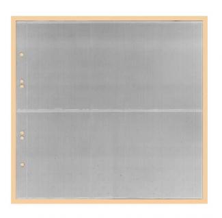 1 x KOBRA G42E Ergänzungsblätter - Ersatzblätter 2 Taschen glasklar 245 x 118 mm Für Banknoten - Liebigbilder - Reklamebilder Sammelbilder
