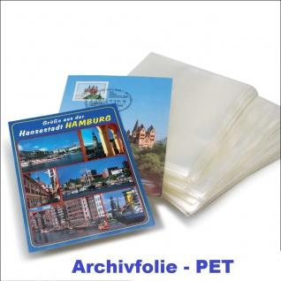 """50 KOBRA T76-PET Postkartenhüllen Schutzhüllen Hüllen """" Archivfolie PET """" DIN A6 neues Format Postkarten Ansichtskarten Banknoten 107 x 150 mm"""