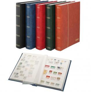 """Lindner 1162S-R Briefmarken Einsteckbücher Einsteckbuch Einsteckalbum Einsteckalben Album """" Elegant """" Weinrot Rot wattiert 60 weiße Seiten"""