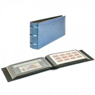 LINDNER 812L-B Firmo L Universal Album Sammelalbum Blau Lang 245 x 132 mm Für 108 Briefe FDC Postkarten Ansichtskarten Banknoten Geldscheine