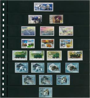LINDNER 1100B-B - Kassettenbinder Briefmarkenalbum Einsteckalbum ECO Blau + 20 Einsteckblättern Hüllen Omnia 08 mit 8 glasklaren Streifen - Vorschau 2
