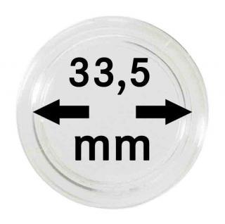 100 LINDNER Münzkapseln / Münzenkapseln Capsules Caps 33, 5 mm für Münzen zb. 2 Rubel 3 Rubel 5 Rubel 3 Mark Kaiserreich 2251335