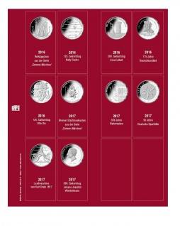 SAFE 7344-1 Premium Münzblätter 7392 mit Vordruckblättern Deutsche 20 Euro Münzen Gedenkmünzen 2016 - 2017
