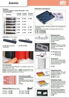 SAFE 855 Pinzetten Briefmarkenpinzetten fein geschliffene geraden Schaufel eckig 120 mm + Etui - Vorschau 2