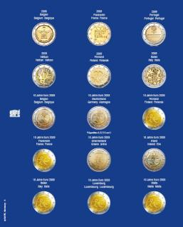 1 x SAFE 7822-4 TOPset Münzblätter Ergänzungsblätter Münzhüllen Münzblatt mit farbigem Vordruckblatt für 2 Euromünzen Gedenkmünzen 2008 - 2009