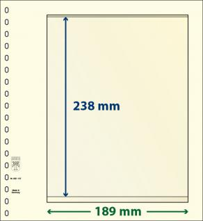 10 x LINDNER 802107P T-Blanko-Blätter Blankoblatt 18-Ring Lochung - 1 Tasche 238 x 189 mm