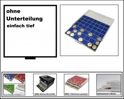SAFE 6601-4 BEBA MÜNZBOXEN 1 quadratischem Fach 280 x 283 mm ohne Unterteilung + blaue Filzeinlage Ideal für große Münzen & Medaillen & Anstecker - Anstecknadeln - Pin 's