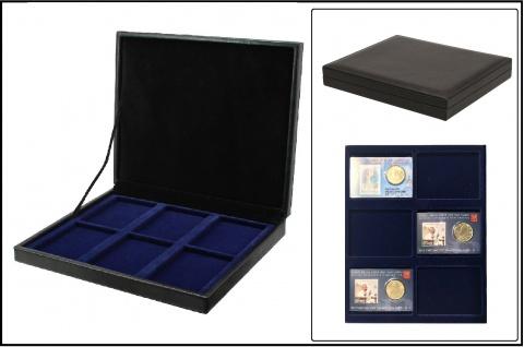SAFE 63730 NOVA deluxe Münzkassette schwarz 6 Fächer Für Coincards Coin-Cards