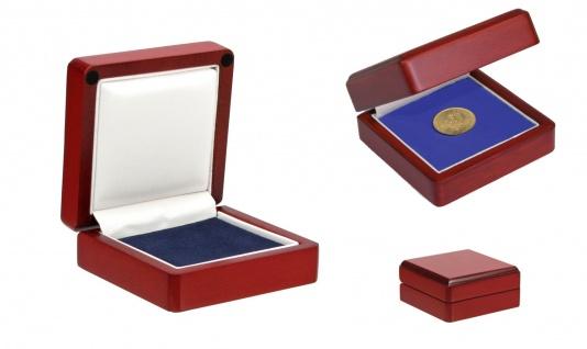 SAFE 7910 Holz Münzetui Mahagonifarbend Für Münzen und Medaillen bis 60 mm