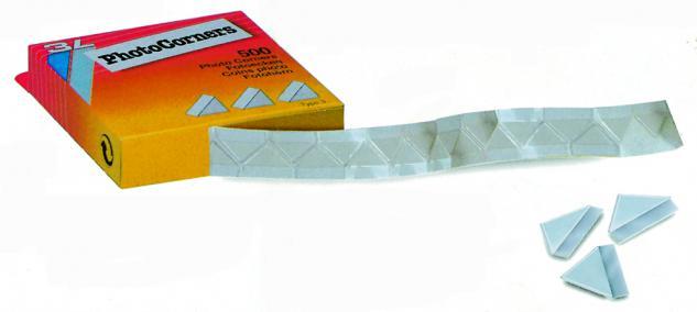 250 SAFE 1832 Selbstklebe-Ecken Fotoecken 19 x 19 mm Glasklar Für Postkarten Ansichtskarten Deko Bilder Fotos - Vorschau 1