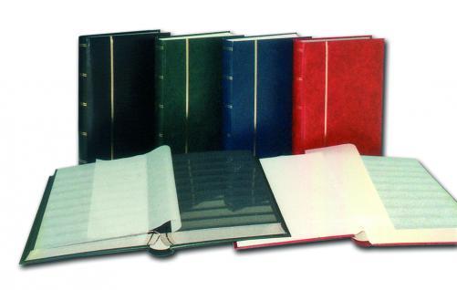 SAFE 151-1 Briefmarken Einsteckbücher Einsteckbuch Einsteckalbum Einsteckalben Album Weinrot - Rot wattiert 60 weissen Seiten - Vorschau 2