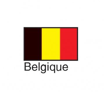 1 x SAFE 1175 SIGNETTE Flagge Belgien - Belgique Aufkleber Kennzeichnungshilfe - selbstklebend