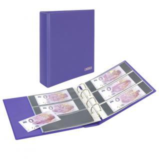 LINDNER S3540BT-13 Viola - Lila Banknotenalbum PUBLICA M COLOR Billets Touristiques + 10 Blätter MU3103 - Ideal für 0-Euro Banknoten Geldscheine