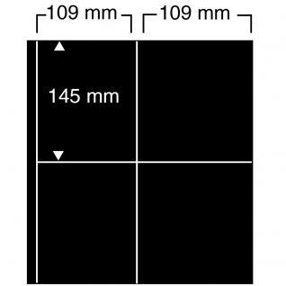 10 SAFE 476 Einsteckblätter Compact A4 - 4 schwarze Taschen 109 x 145 mm Für Banknoten Briefmarken
