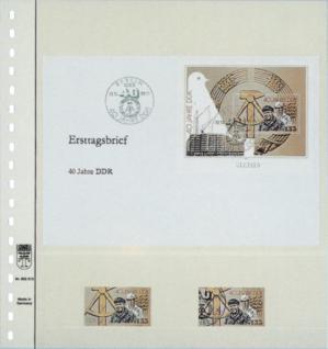 1 x LINDNER 802213 T-Blanko-Blätter Blankoblatt 18-Ring Lochung - 2 Taschen 208 / 74 x 235 mm - Vorschau 2