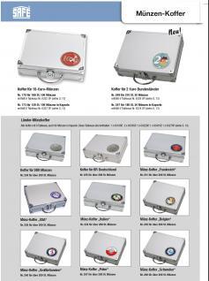 SAFE 279-1 ALU Münzkoffer - Sammelkoffer SMART Deutschland 3D Plakette Für 30 x komplette Euro Kursmünzensätze KMS 1, 2, 5, 10, 20, 50 Cent & 1, 2 Euromünzen in Münzkapseln - Vorschau 5