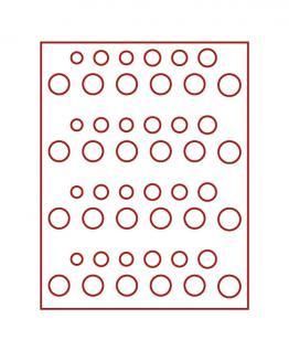 LINDNER 2604 Münzbox Münzboxen Rauchglas 4 DM Kursmünzen Sätze KMS