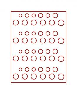 LINDNER 2604E Velourseinlagen Dunkelrot für Münzbox Münzboxen Kassetten Münzkoffer