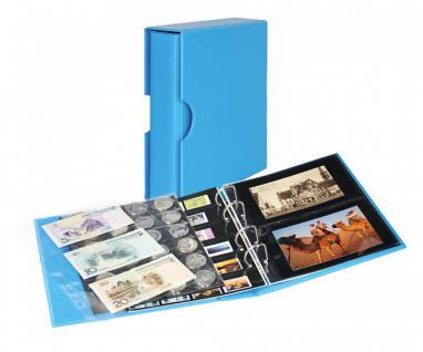 LINDNER S3542PK-5 Nautic - Blau Postkartenalbum Album PUBLICA M COLOR + Kassette & 10 Hüllen Für Postkarten - Fotos - Bilder - Ansichtskarten