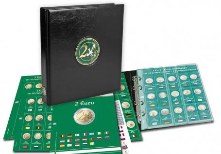 SAFE 7341-20 Premium Münzblätter 7393 mit Vordruckblättern 2 Euro Münzen Gedenkmünzen 2017 - 2018 - Vorschau 2