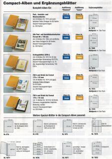 10 SAFE 7869 Compact Ergänzungsblätter Hüllen 2 Taschen 145 x 95 mm + sandf. ZWL Für alte Postkarten , alte Ansichtskarte , Banknoten - Vorschau 2