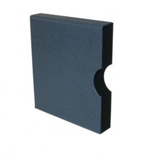 Hartberger 8301-B Blaue Schutzkassette für Ringbinder Münzalbum Münrähmchen 8300 + 8304