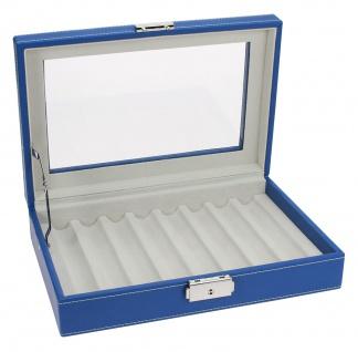 SAFE 73628 Skai Kassette Vitrinen Blau mit Glaseinsatz für 8 Schreibgeräte Kugelschreiber Füller Stifte - Vorschau 2