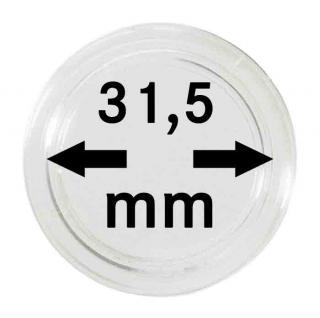10 LINDNER Münzkapseln / Münzenkapseln Capsules Caps 31, 5 mm für Münzen zb. 1 Rubel 2250315P - Vorschau 1
