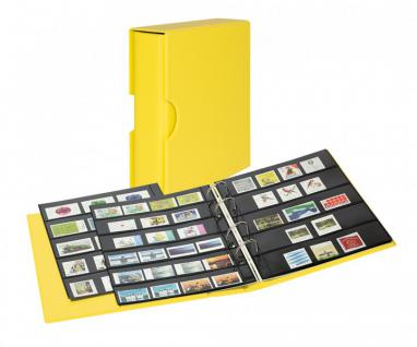 LINDNER S3542B-9 Solino - Gelb Ringbinder PUBLICA M COLOR Multi Collect + Kassette & je 5 Blätter MU1315 & MU1316 Für Briefmarken & Blocks