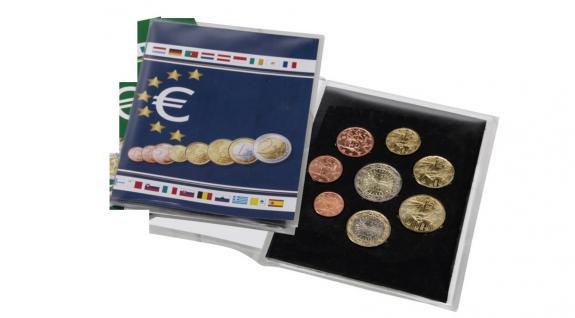 1 x SAFE 1360 Münzkarten Sammelkarten Folder Blister Klappkarten 1x kompletten Euro Kursmünzensatz KMS 1, 2, 5, 10, 20, 50 Cent 1, 2 Euro